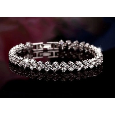 Bratara argint Romantic Crystals elemente Swarovski