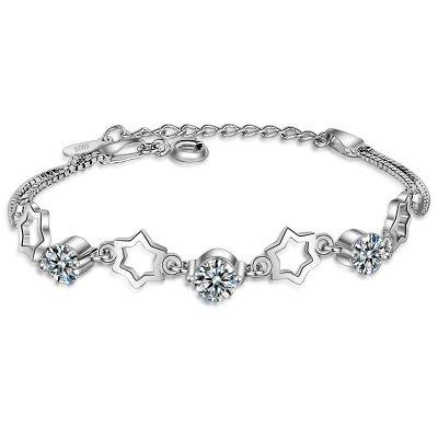 Bratara argint femei Stars Crystal cu Elemente Swarovski