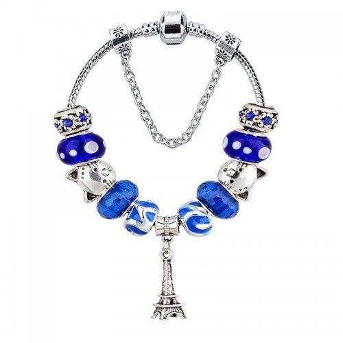 Bratara Pandora Charm Blue Turnul Eiffel