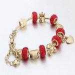 Bracelet Charm Pandora Red Kelan Love