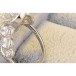 Silver ring with white gold Queen Crystalis