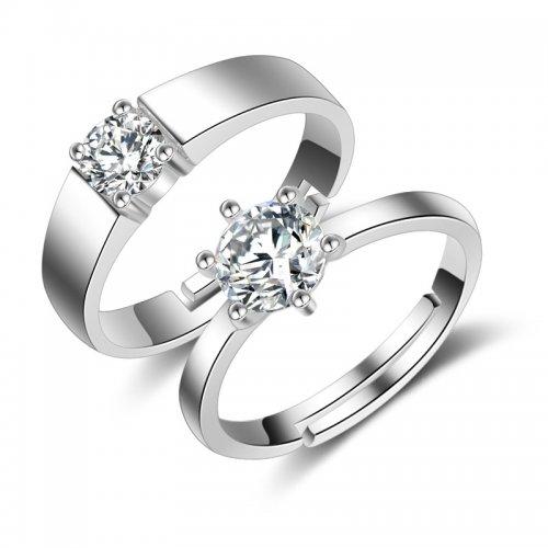 Inel argint logodna cuplu Eternity