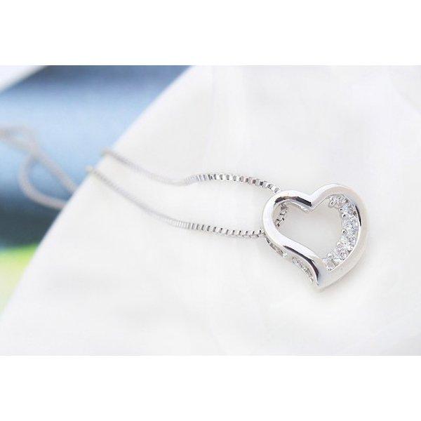 Colier argint elemente swarovski Love Crystal