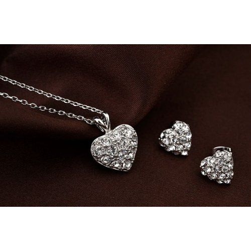 Set argint Valentine's day Crystal