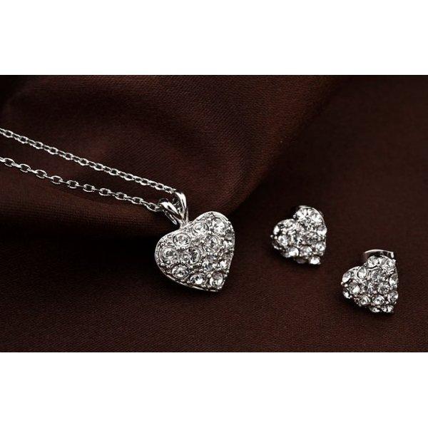 Set argint Valentine's day Crystal