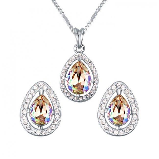 Crystal Paradise women's silver set