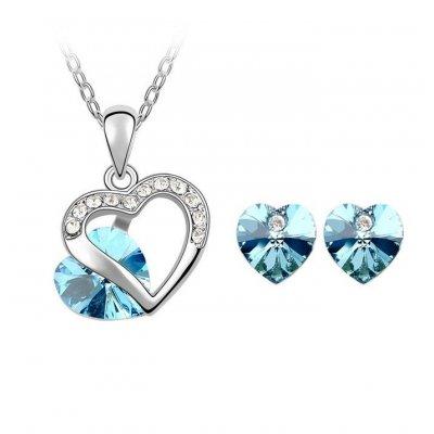 Set argint cu Cristale Swarovski Avatar Blue