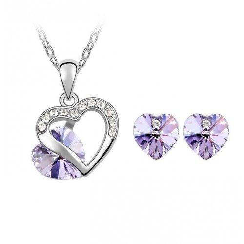 Set argint cu Cristale Swarovski PurpleTruth