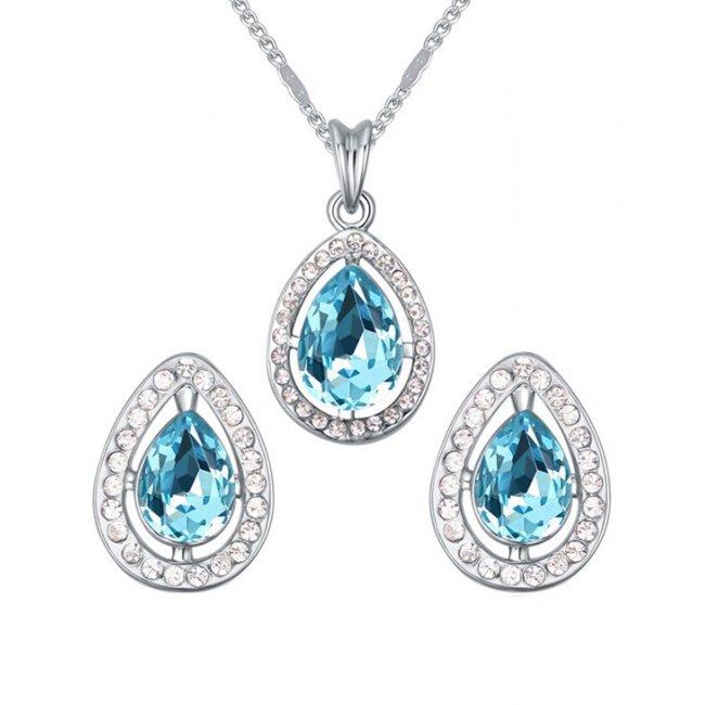 Bright Blue Paradise women's silver set
