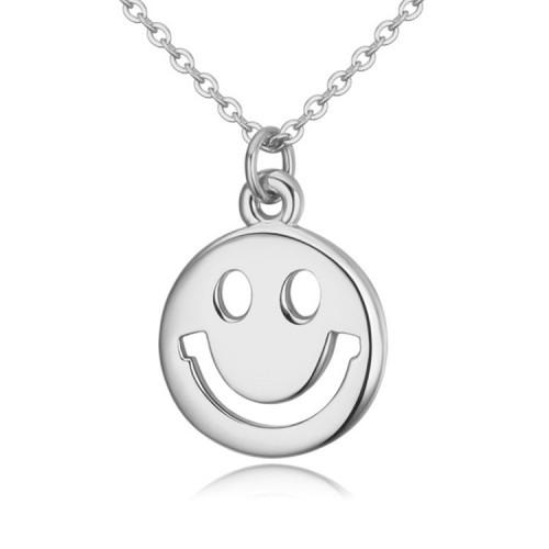 Lant argint femei cu pandantiv Happy Smile
