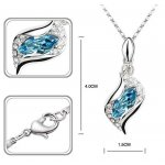 Set argint femei Teardrop Albastru Cristale Swarovski